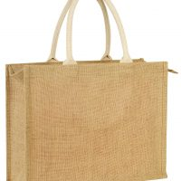 JUTE BAG WITH ZIP S40020-1