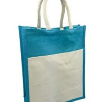 JUTE WITH CANVAS FRONT POCKET S40037-1