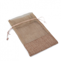 JUTE BAG WITH NETTING S40043-1